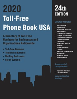 cache 470 320 0 50 92 16777215 TF2020 Toll Free Phone Book USA 2020, 24th Ed.