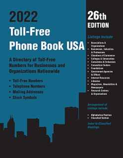 cache 470 320 0 50 92 16777215 TF2022 Toll Free Phone Book USA 2022, 26th Ed.