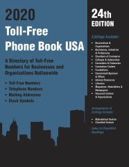 cache 480 240 4 0 80 16777215 TF2020 Toll Free Phone Book USA 2020, 24th Ed.